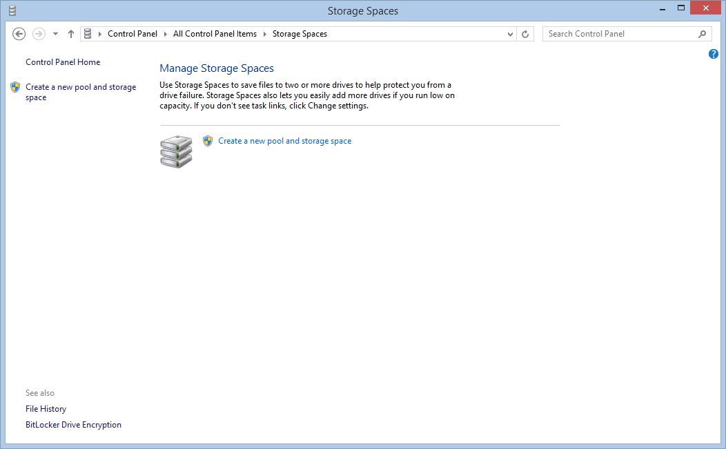 Creare e configurare uno Storage Space