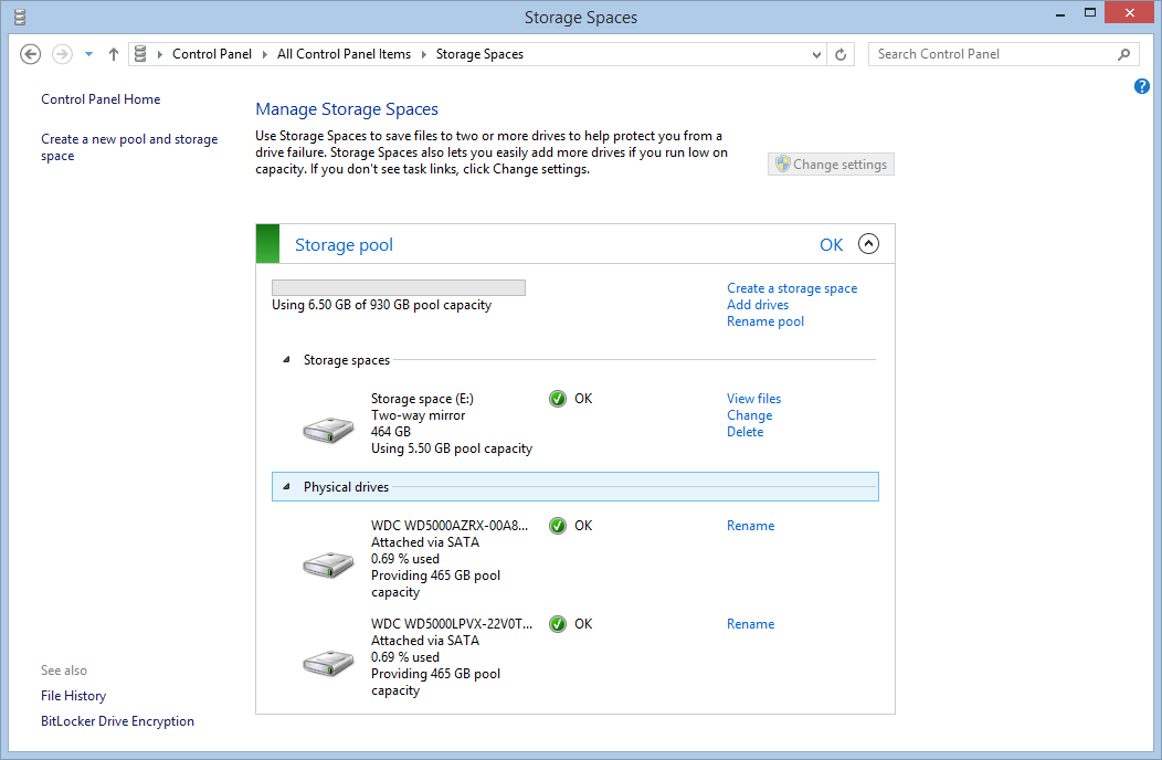 How to: Storage Spaces on Windows 8.1