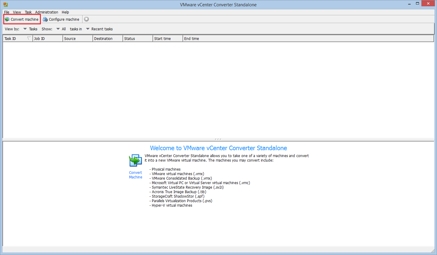 Hyper-V to ESXi conversion with VMware vCenter Converter