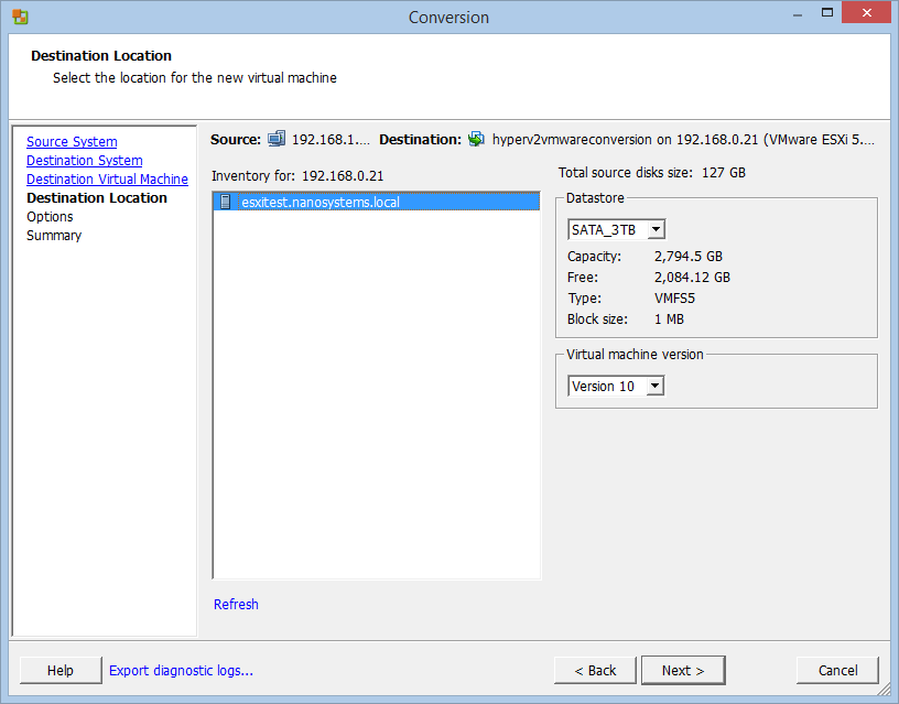 How to: Hyper-V to ESXi (vSphere) VM conversion