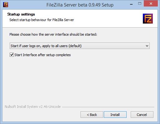 Install and configure a FileZilla FTP Server