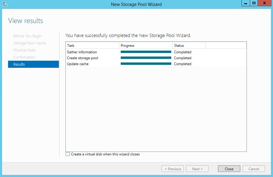 Storage Spaces on Windows Server 2012