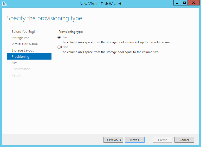 Storage Spaces on Windows Server 2012