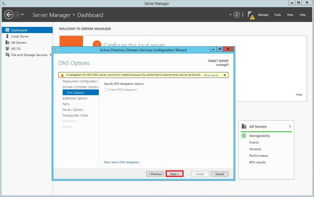 how to create an active directory domain