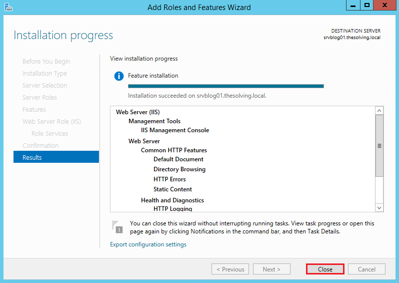 How to install and configure IIS on Windows Server 2012 R2