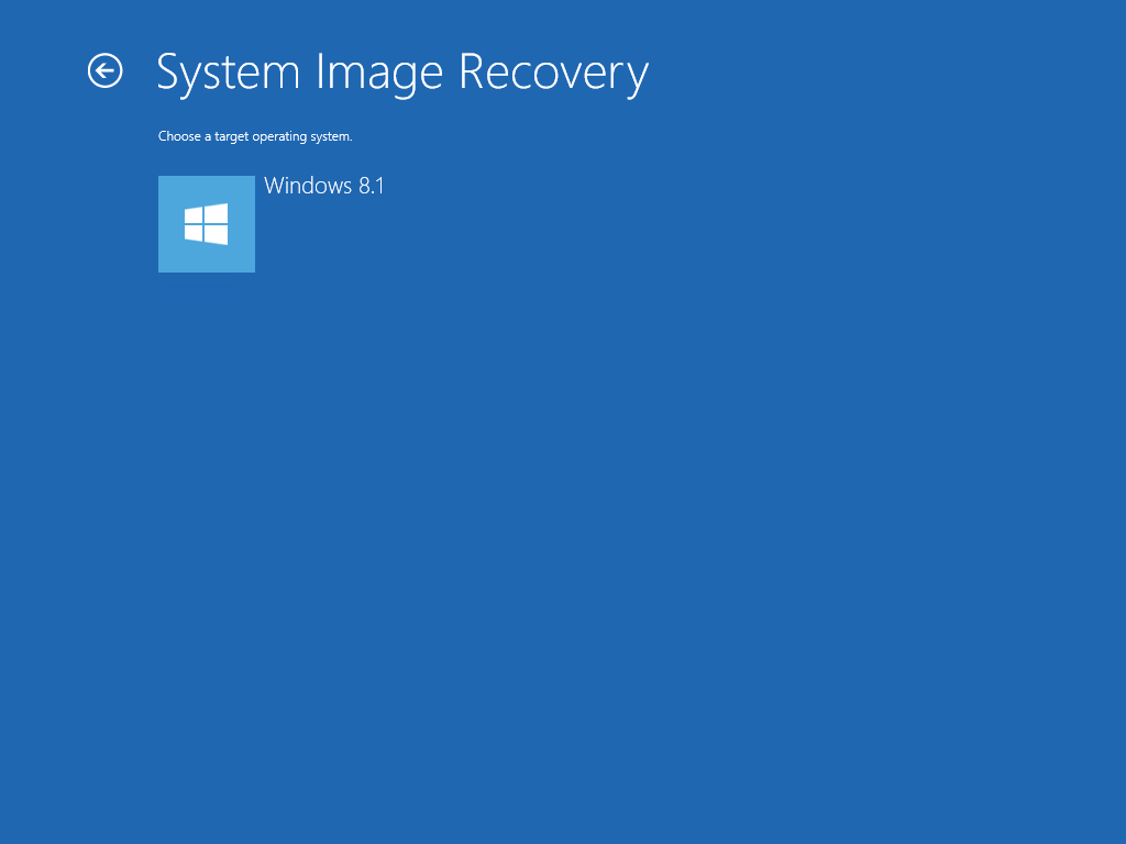 How to restore a Windows System Image Backup