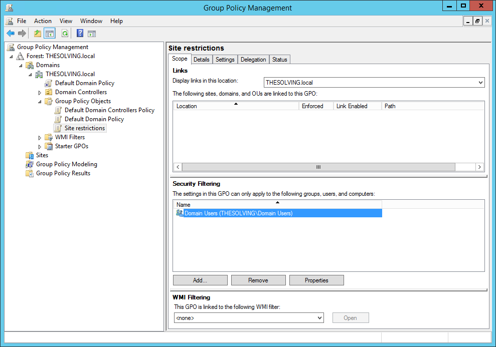 Active Directory: how to restrict sites in IE 10 and IE 11 with a Group Policy