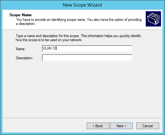 Configure a multiscope DHCP server to work with VLANs