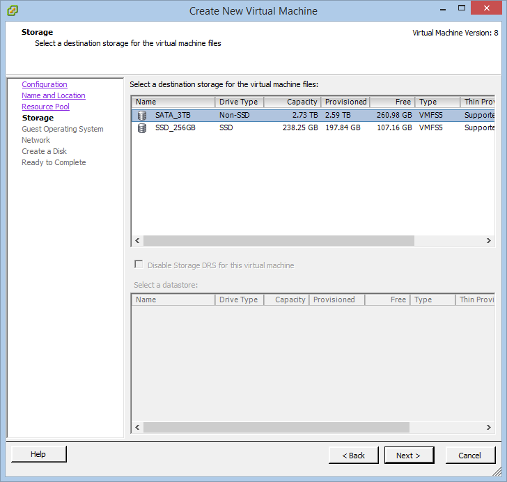 How to create a VM on a ESX(i)/vSphere host