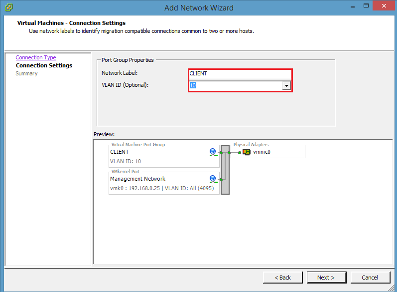 how to manage a vlan aware architecture and virtual switches with ESXi vSphere