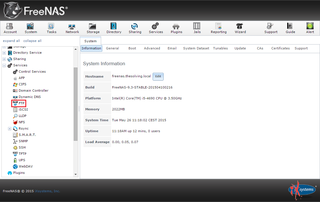 How to configure an FTP server on FreeNAS
