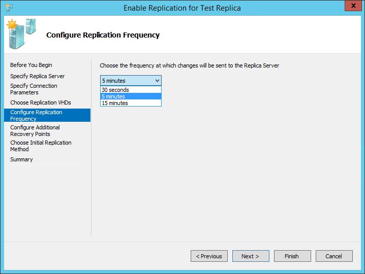 How to configure virtual machine replication on Hyper-V
