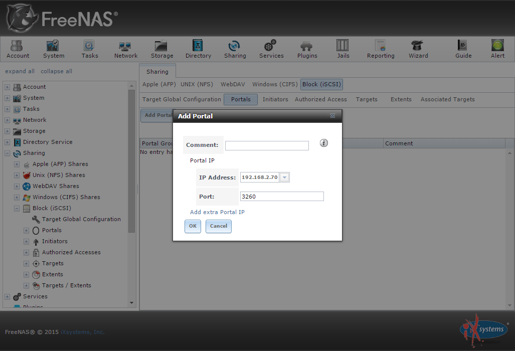How to create an iSCSI target with FreeNAS | The Solving
