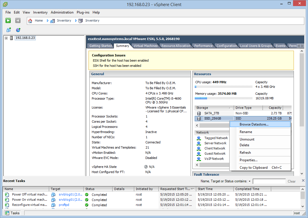 How to run a Hyper-V server on an ESXi VM (nested virtualization)