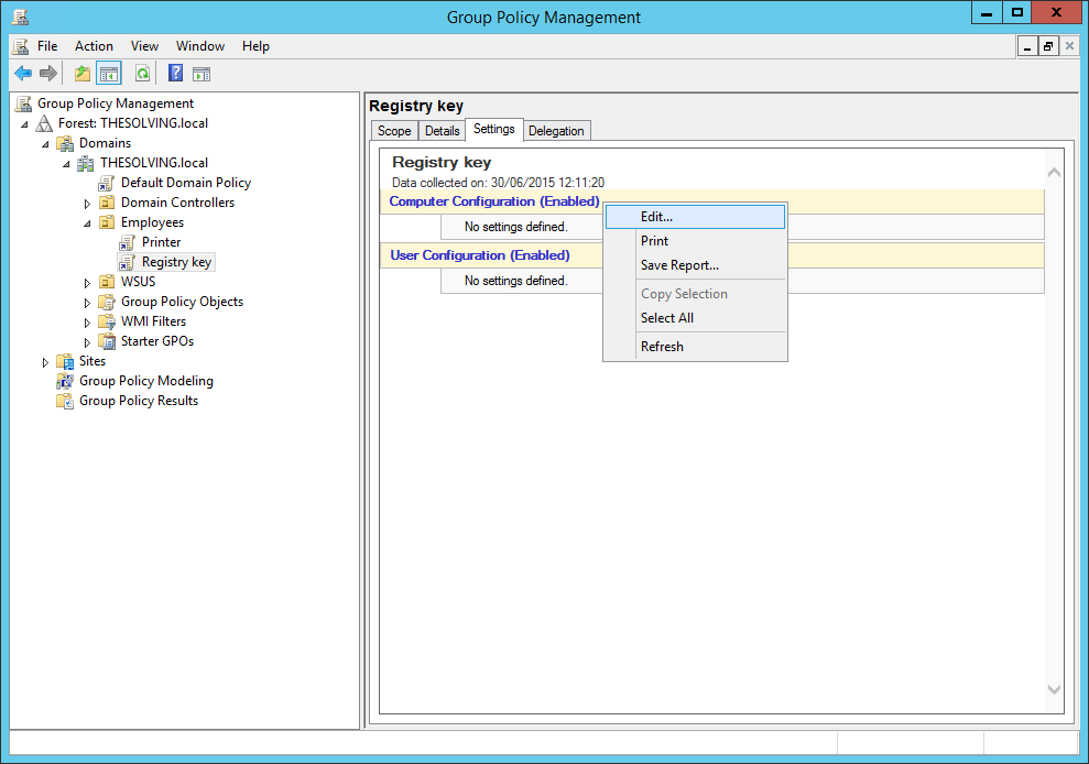 How to deploy a Registry Key via Group Policy | The Solving
