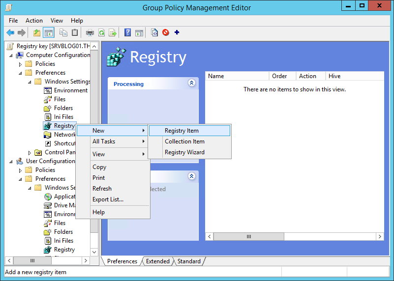 How to deploy a Registry Key via Group Policy