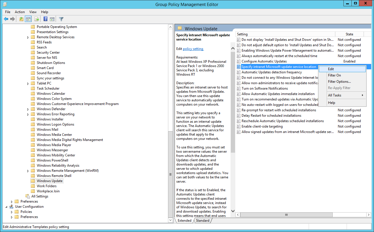 Install and configure Windows Server Update Services (WSUS)
