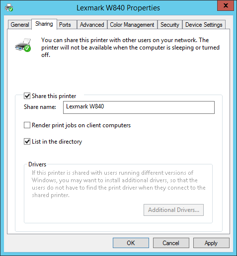 How to share printers with GPO