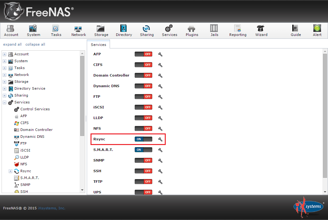 How to sync two FreeNAS storage using rsync