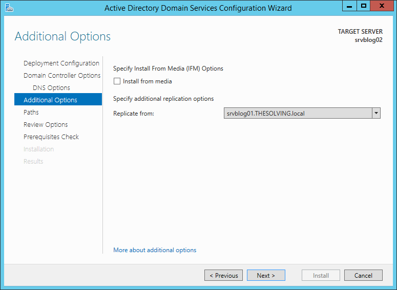 How to add a Backup Domain Controller to an existing Active Directory Domain