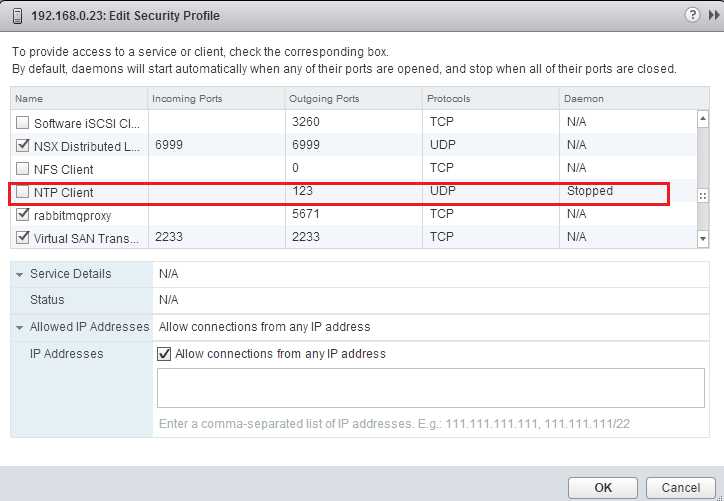 How to configure and administer the ESXi firewall