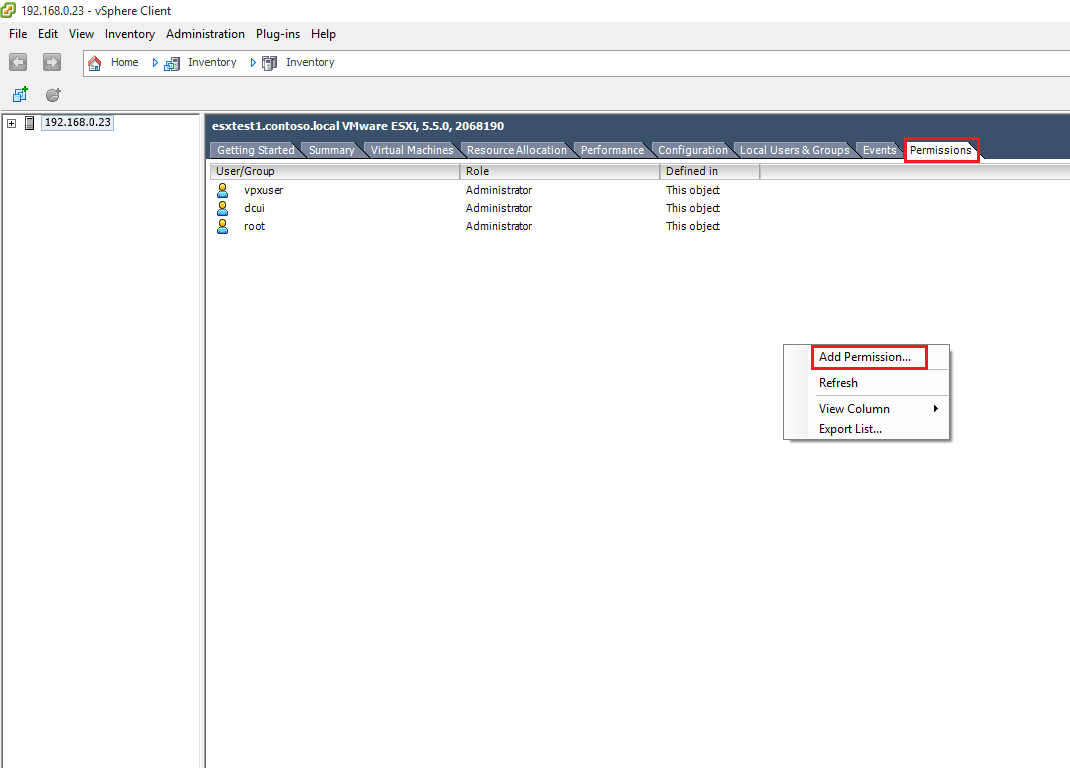 How to add an ESXi Host to an Active Directory Domain