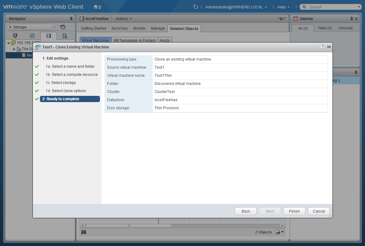 Convert a thick provisioned disk to thin and vice versa on VMware ESXi