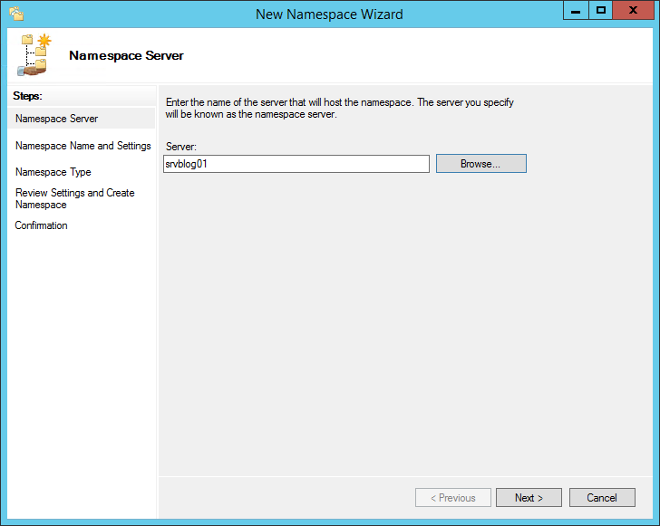 How to configure a Distributed File System (DFS) Namespace