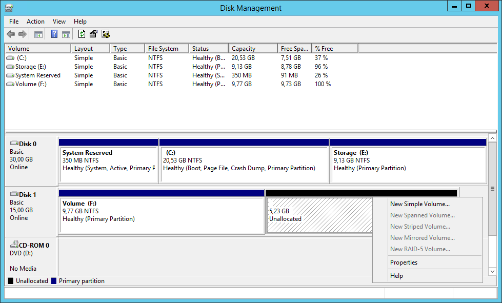 How to hot-extend a virtual disk with VMware ESXi