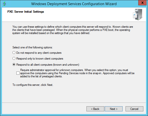 Configuring and using Windows Deployment Services