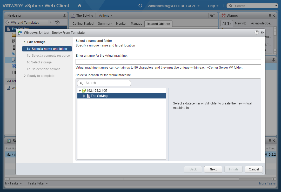 How to create a Template from a VM on VMware vSphere