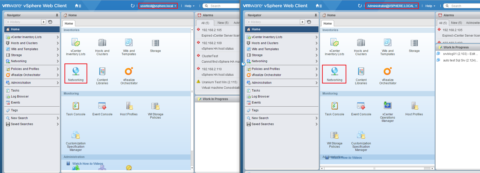 How to add a new user in a customized vCenter Role