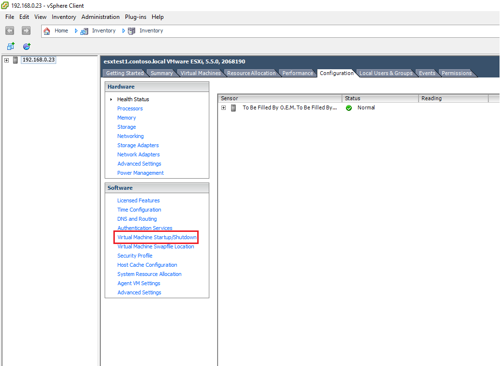 How to configure virtual machines auto-start on VMware Esxi