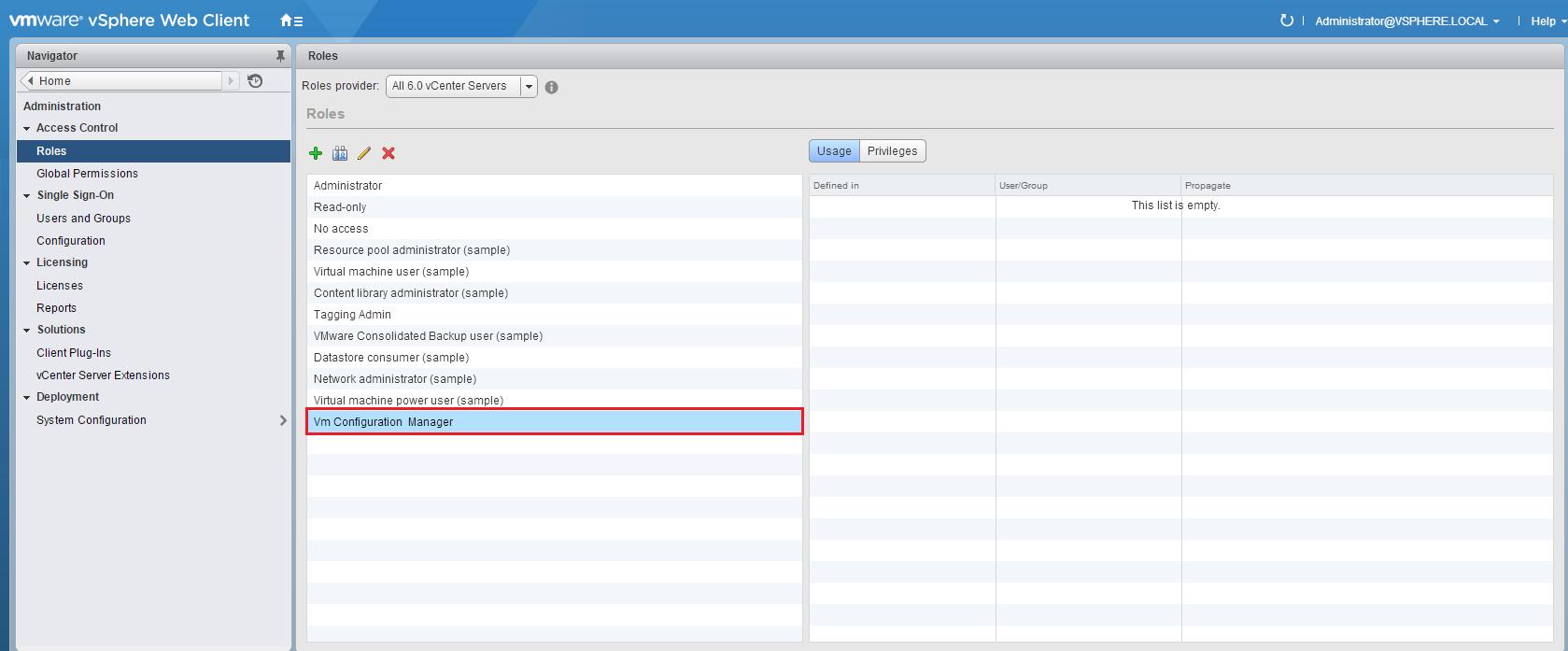 How to create custom vCenter Server Roles