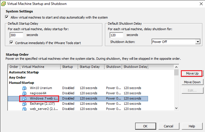 How to configure virtual machines auto start on VMware Esxi