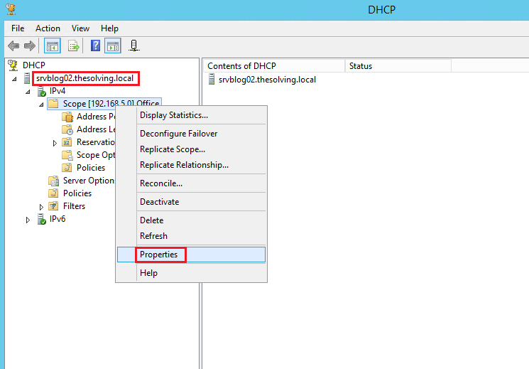 How to configure Dhcp Failover on Windows Server 2012 R2