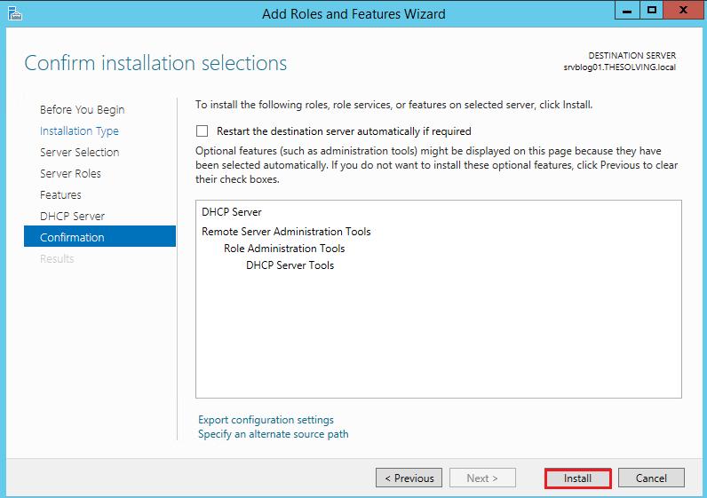 How to configure Dhcp Failover on Windows Server 2012 R2