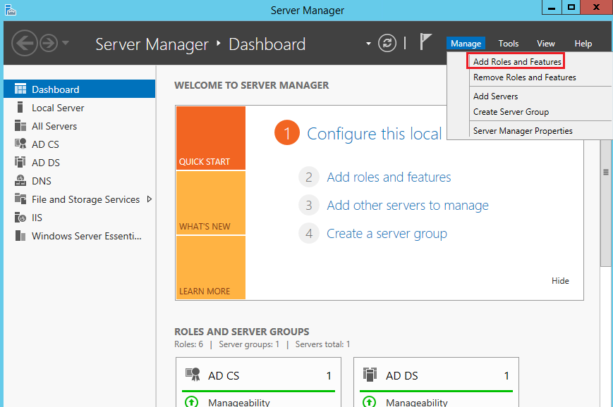 Configure a Radius server on Windows Server to authenticate