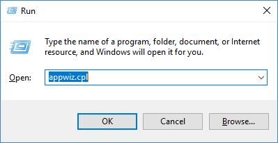KB4074588 bug - appwizcpl command