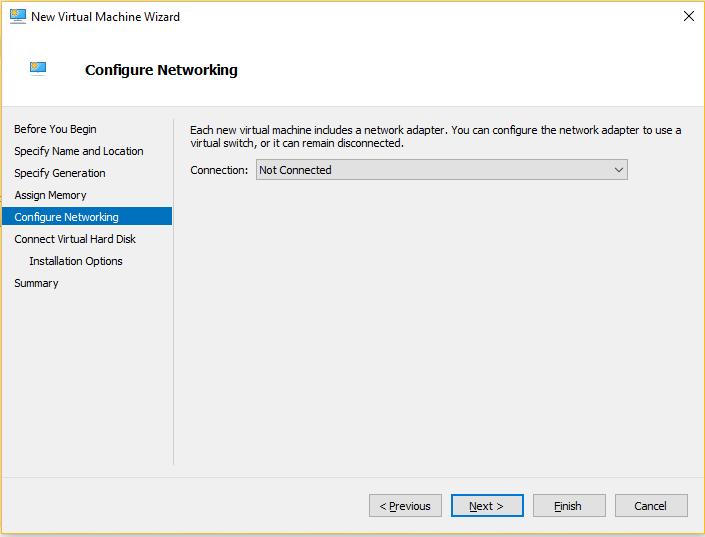 Hyper-V - Configure Network