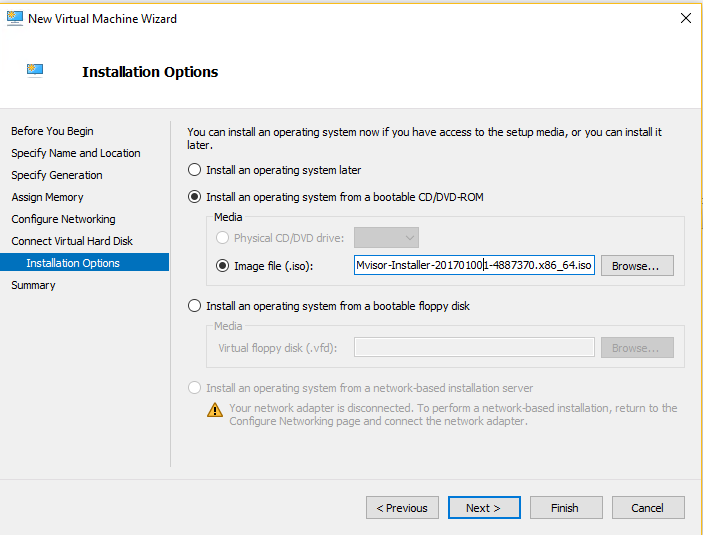 Hyper-V - Installation Options