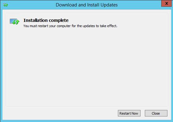 WMF Installer reboot server