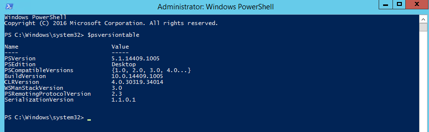 Powershell - check version after WMF installation
