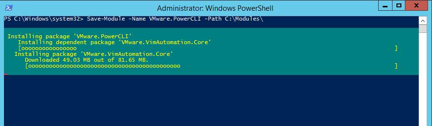 PowerCLI - Save Modules locally