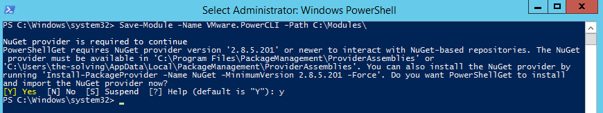 PowerCLI - Save Modules locally