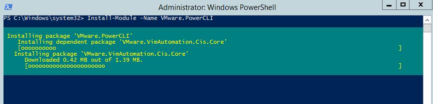 PowerCLI - install modules