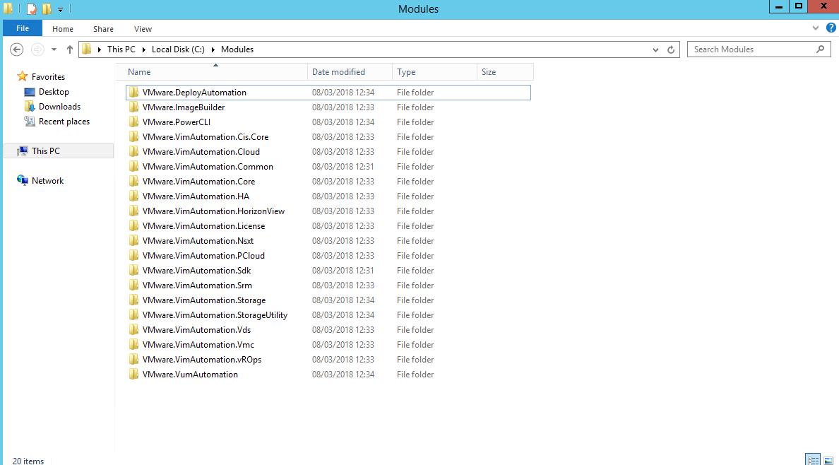 PowerCLI - Module folder