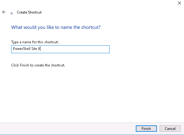 PowerCLI - create shortcut name