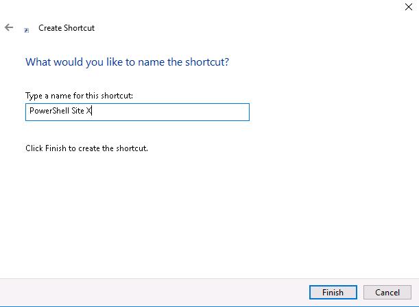 PowerCLI - create shortcut name